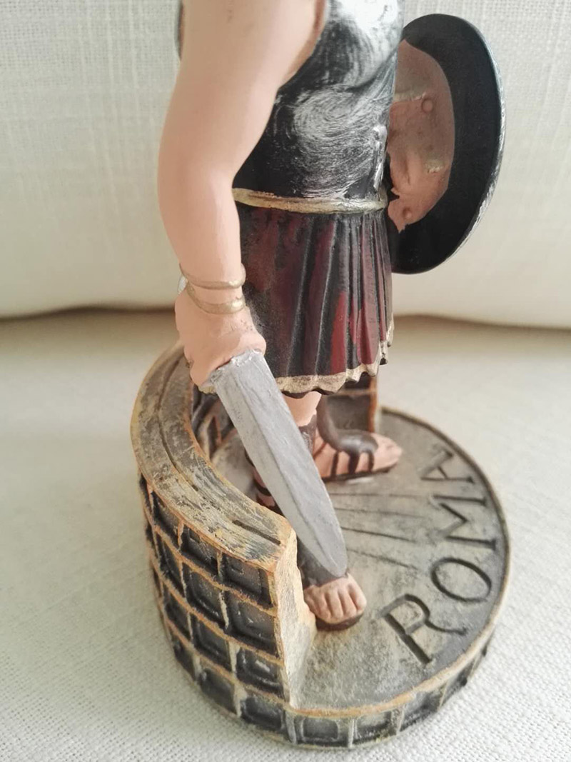 the gladiator with sword in hand