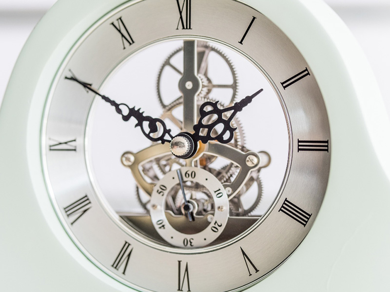 skeleton mantle clock allow you to track hours, minutes and seconds easily