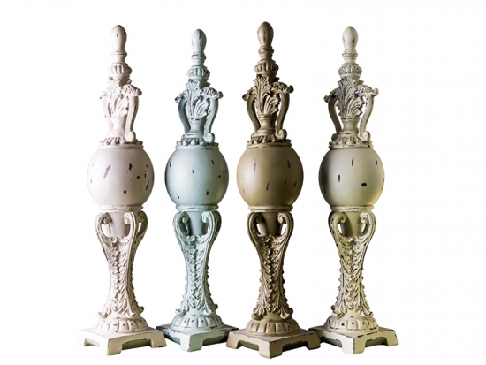 polyresin fire place finials
