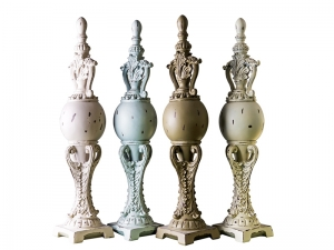 poliresin fire place finials