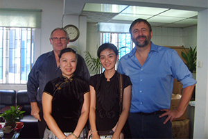 CEO do Thomas kent clock jogou uma visita a xiamen d & f co., ltd.